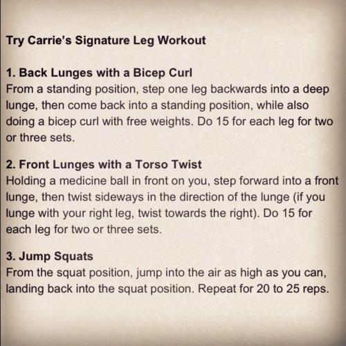 Carrie Underwood's Leg workout #carrieunderwoodlegworkout