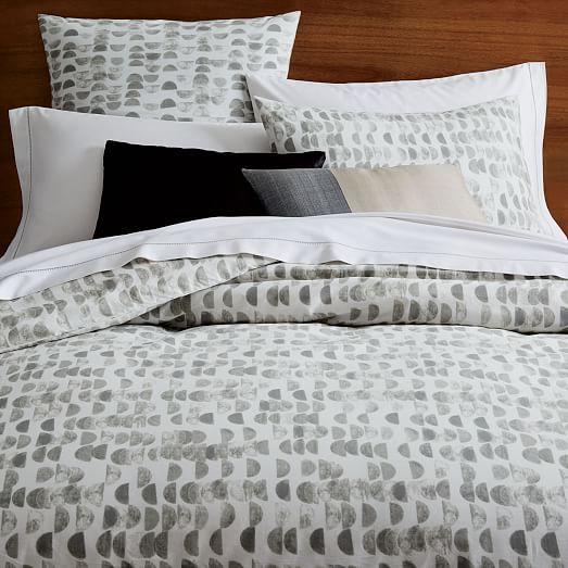 Organic Half Moon Duvet Cover Shams Bed Linens Luxury Bed Linen Design Contemporary Bed Linen