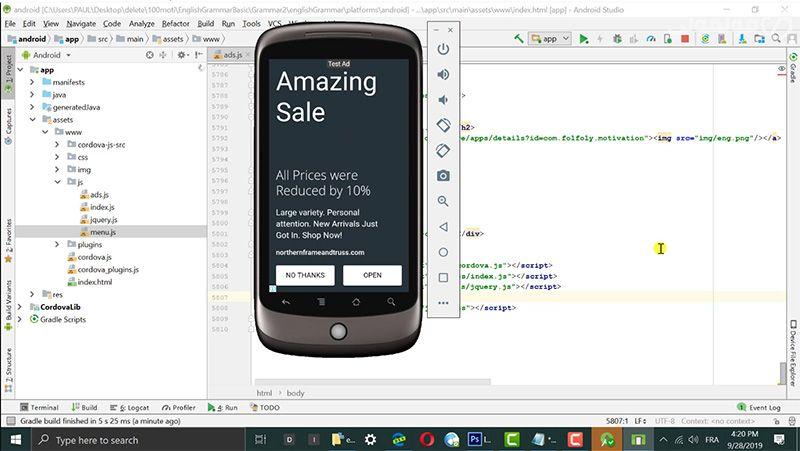شرح انشاء تطبيق أندرويد من الصفر ورفعه على متجر جوجل بلاي Coding Android Apps Android
