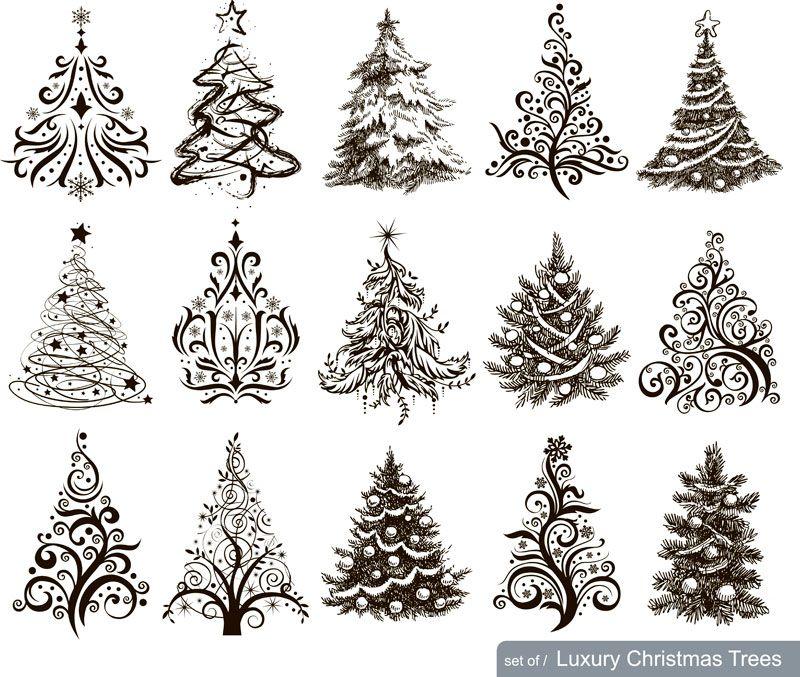 Christmas Tree Christmas Tree Drawing Luxury Christmas Tree Christmas Pictures To Draw