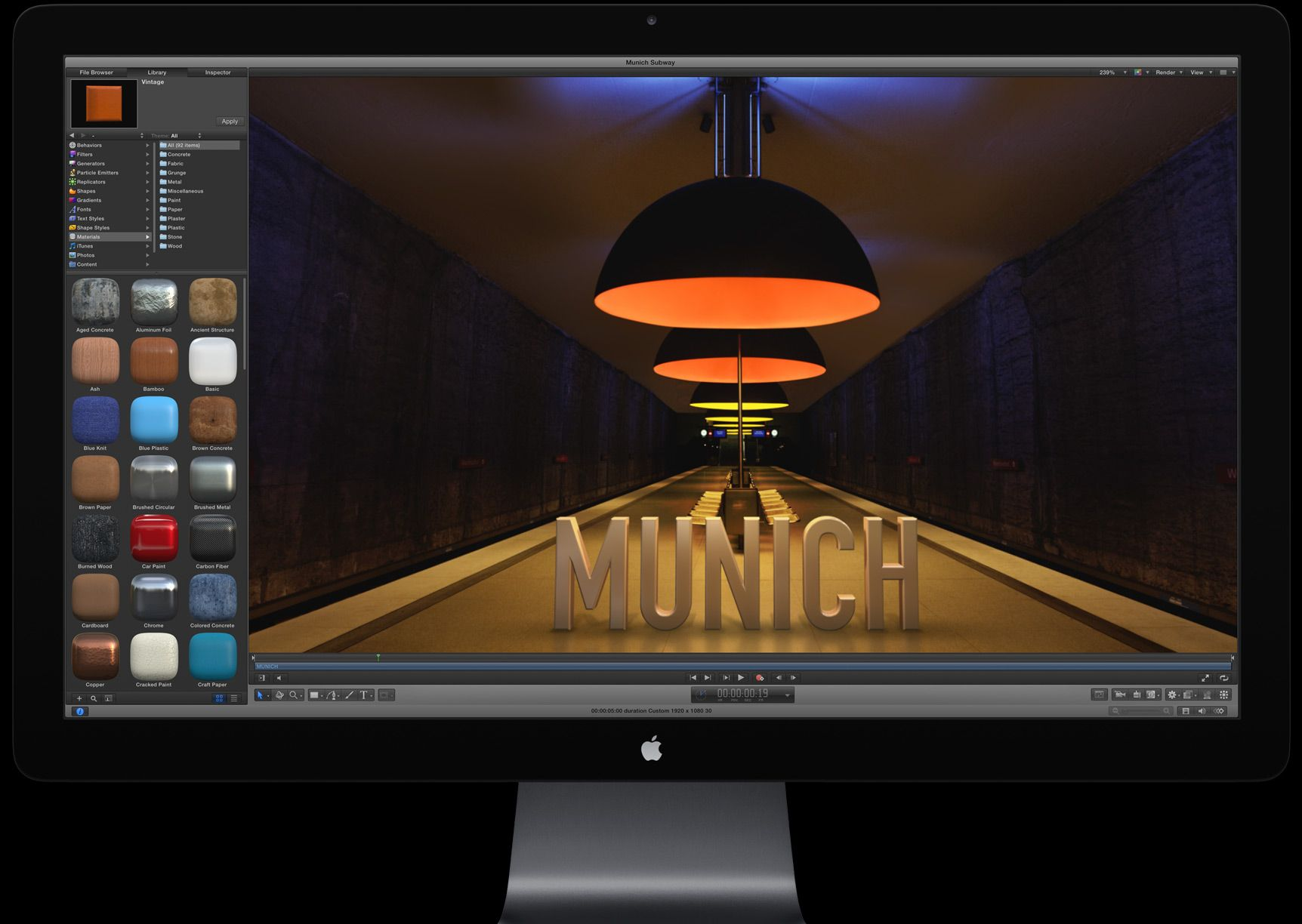 Apple - Motion 5 - Special Effects - Buy $50 - Overview