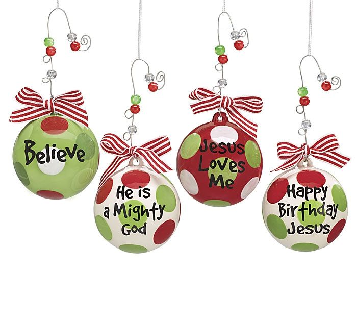 Religious Christmas Ornaments Religious Christmas Tree: Christmas Ornament Balls Believe