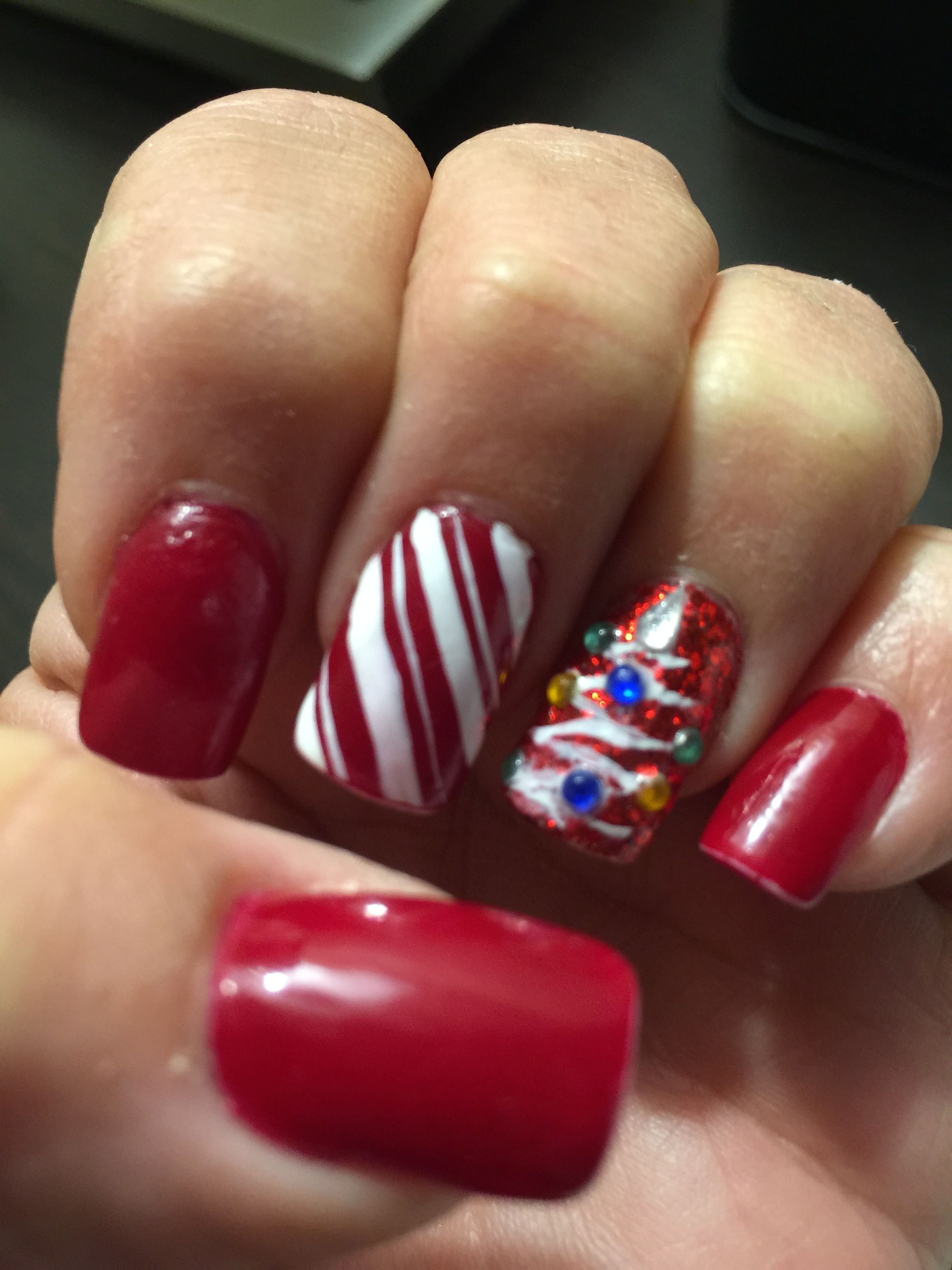 Merry Christmas Jolly Nail Art Fun Beachy Nails And Holidays Too