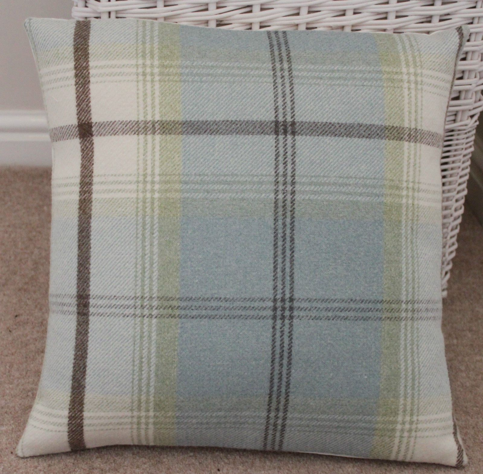 Make a statement with this cozy cushion for an instant update and add a fashionable splash of color to your home. Made with Porter & Stone Fabric from the Balmoral Tartan Collection and backed with a contrasting quality cream cotton fabric.   eBay!