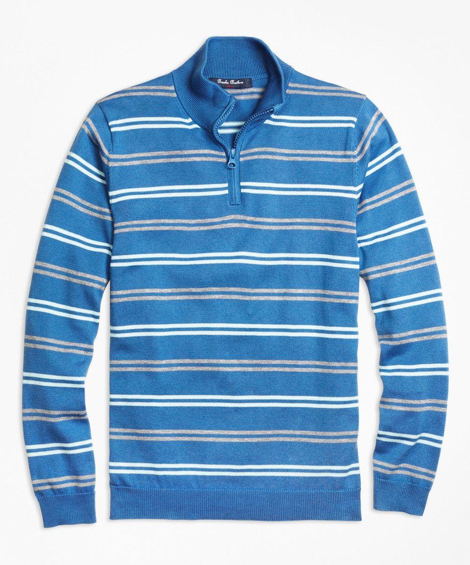 Look at this #zulilyfind! Brooks Brothers Blue & Gray Stripe Pullover - Kids & Tween by Brooks Brothers #zulilyfinds