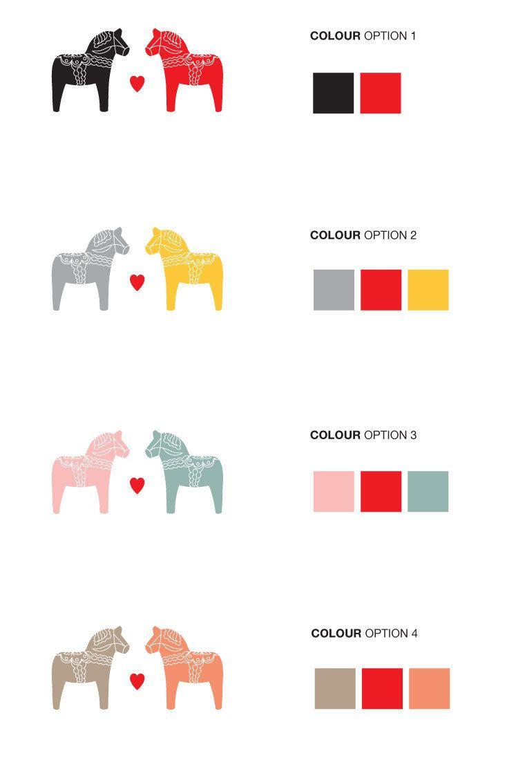 Save The Date Scandinavian Dala Horse Printable Dala Horse Scandinavian Wedding Diy Printable Wedding Invitations