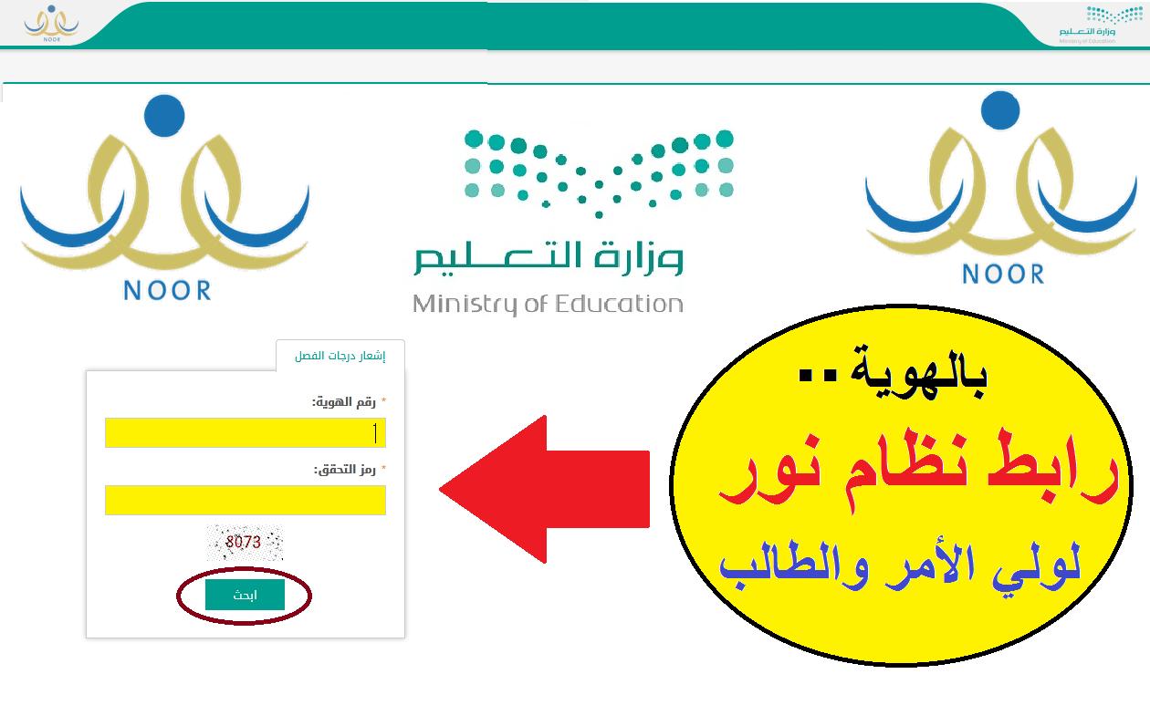 نظام نور بالهوية Ministry Of Education Education Chart
