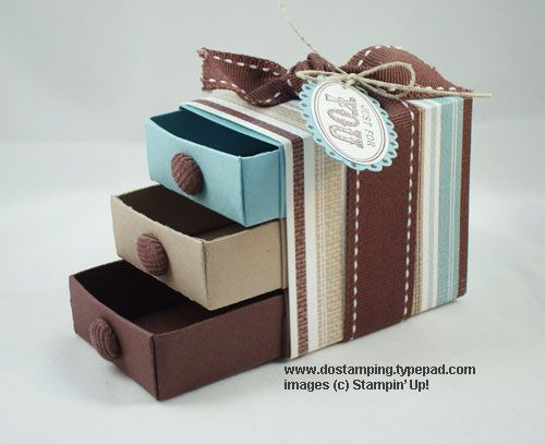 Mini drawers from dostamping.typepad.com