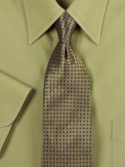 Basketweave Woven Silk Tie from Paul Fredrick