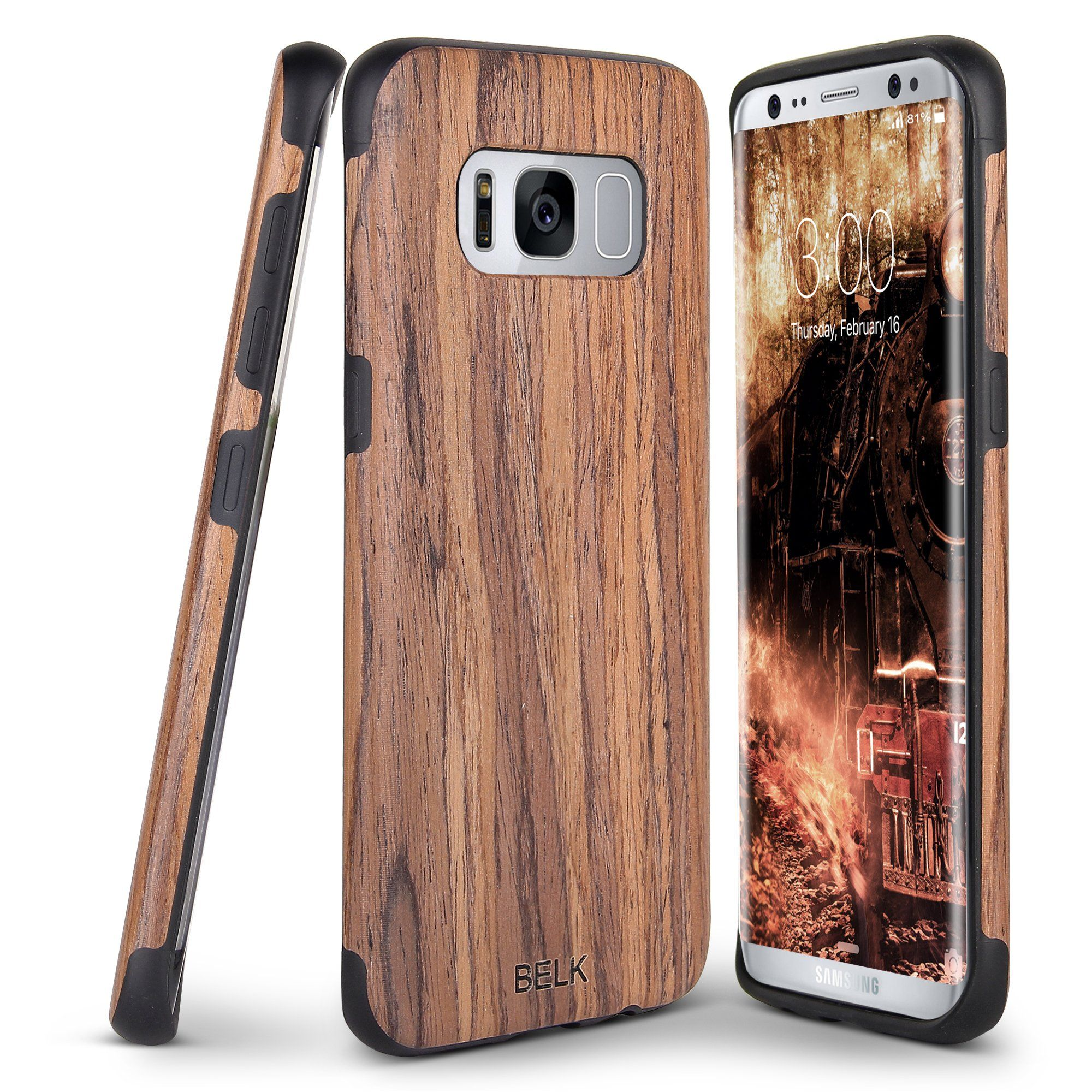 newest collection a1ce8 f0097 Galaxy S8 Case, BELK [Slim to Beat] Soft Wood Non Slip Premium ...