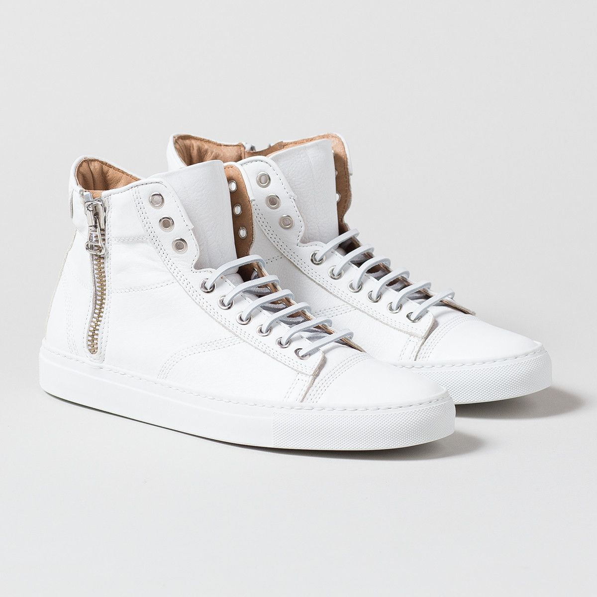 e3f5b85155 Wings and Horns Leather Hi Top Sneaker White | Apartment Number 9 ...