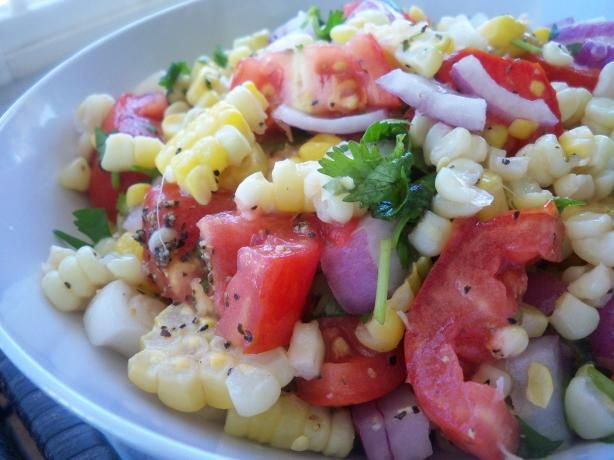 Sweet Corn & Tomato Salad With Fresh Cilantro. Photo by *Parsley*