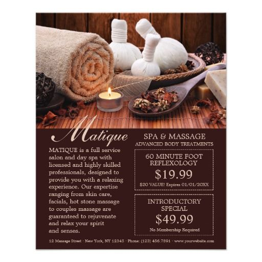 Professional Spa Salon Flyer With Coupons Template  Spa And Salon