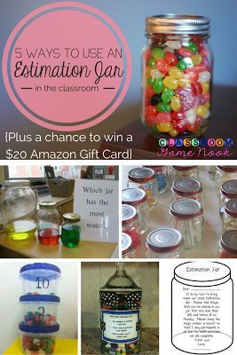 Check Out These 5 Cool Estimation Jar Activities To Use In Your Classroom Estimation Activities Jelly Bean Jar Amazon Gift Cards