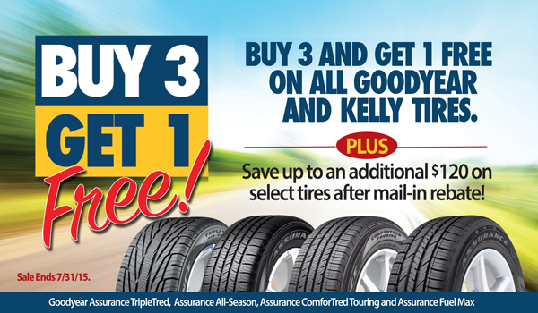 B3g1 Gy Kelly July 2015 Auto Service Tyre Specials Goodyear