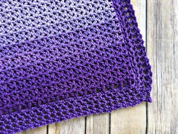 Easy Ombre Baby Blanket Free Crochet Pattern Yarn Pinterest