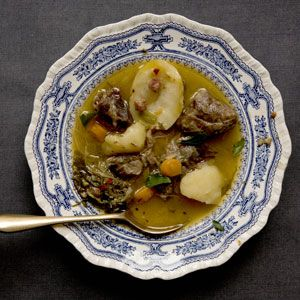 Lamb Stew | Traditionally cooked under a pastry crust, this slow-simmered stew is just as delicious without one. | From: saveur.com