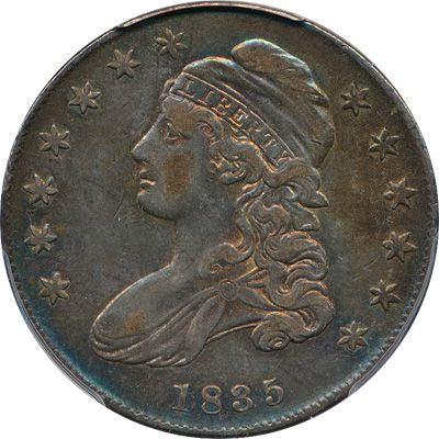 Harry Laibstain Rare Coins has this item on Collectors Corner - 1835 50C VF35 PCGS