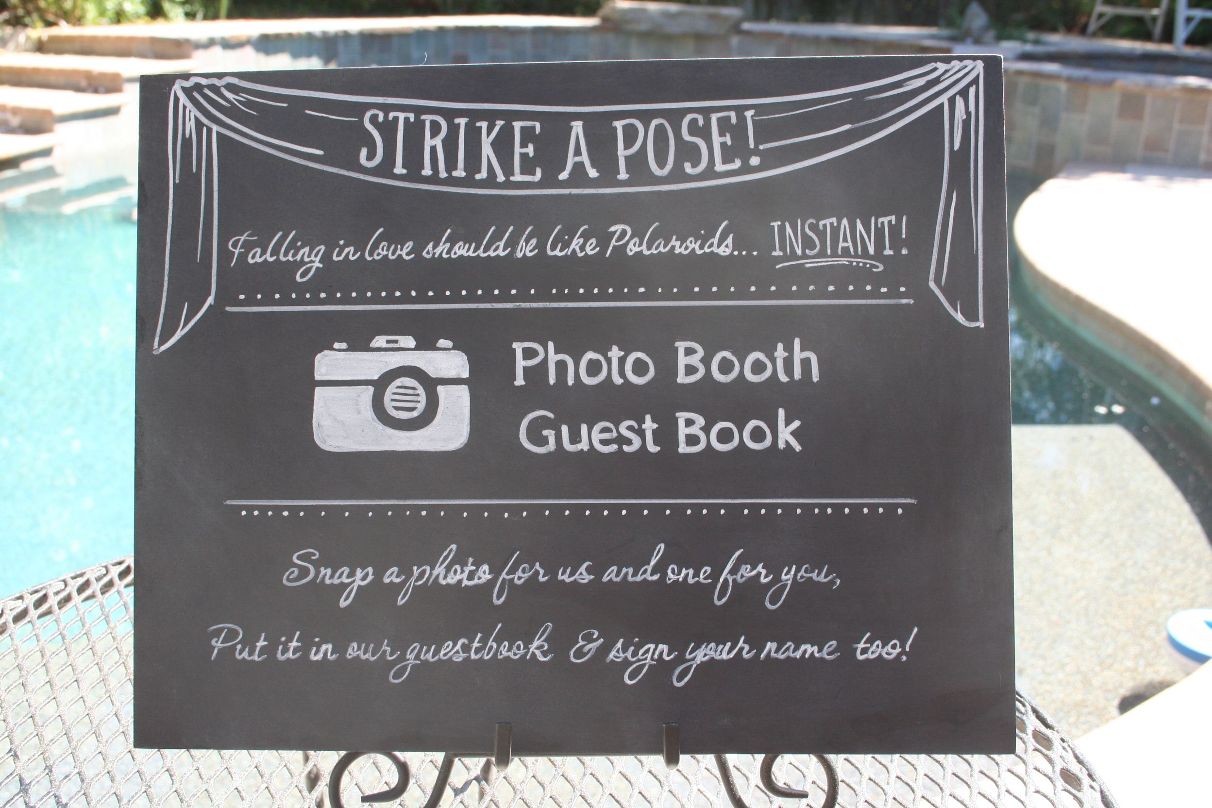 Wedding Photo Booth Metal Plaque Sign