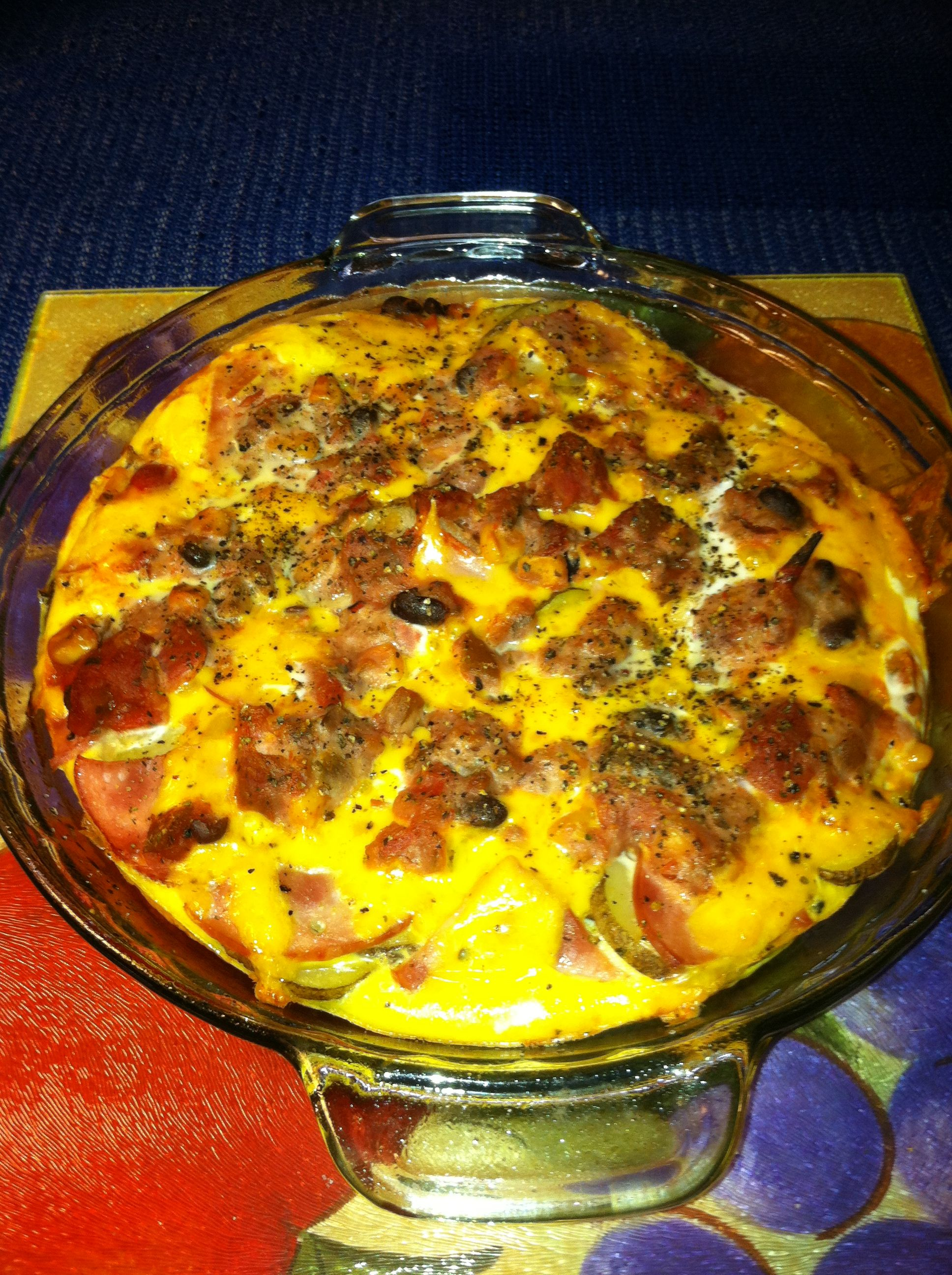 Canadian bacon and egg breakfast casserole bacon eggs
