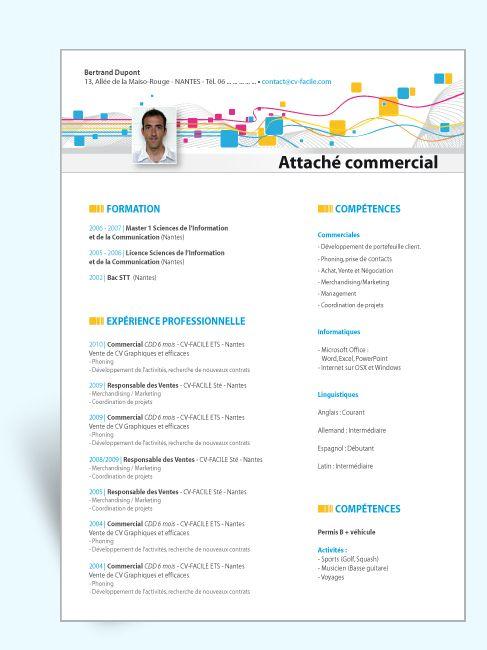 modele cv commercial Modèle CV original commercial à télécharger au format word  modele cv commercial