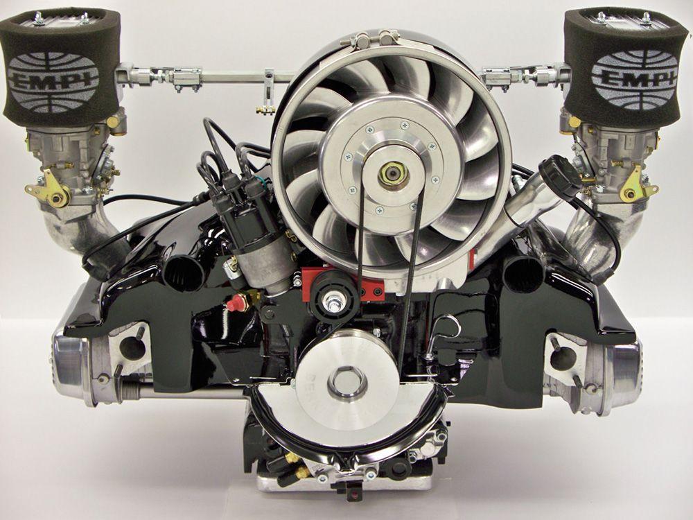 VW air cooled - twin Webber downdraft carbs, Porsche-style