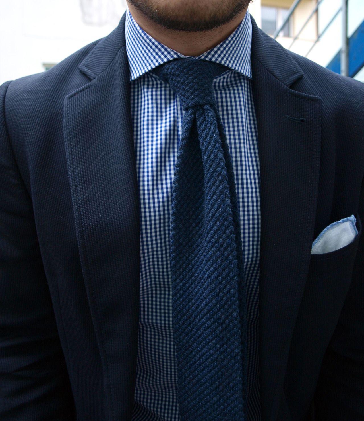 Blue Knit Tie | My style for men Fashion | Pinterest ...