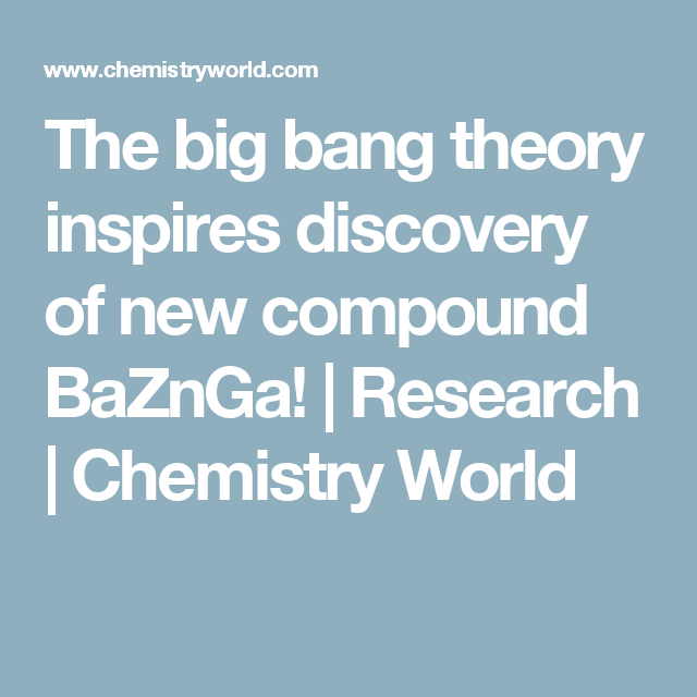 big bang theory research