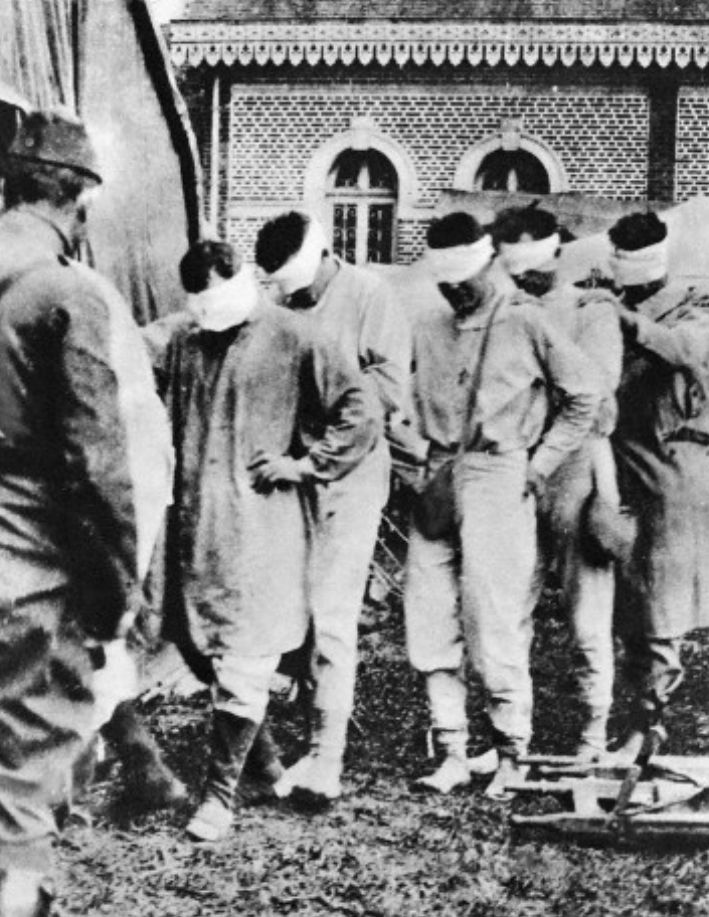 Ww1 • American Prisoners of War and victims of German gas ...
