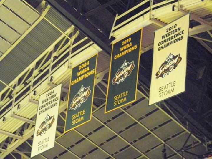 Seattle Storm S Championship Banners Storm Seattle Washington