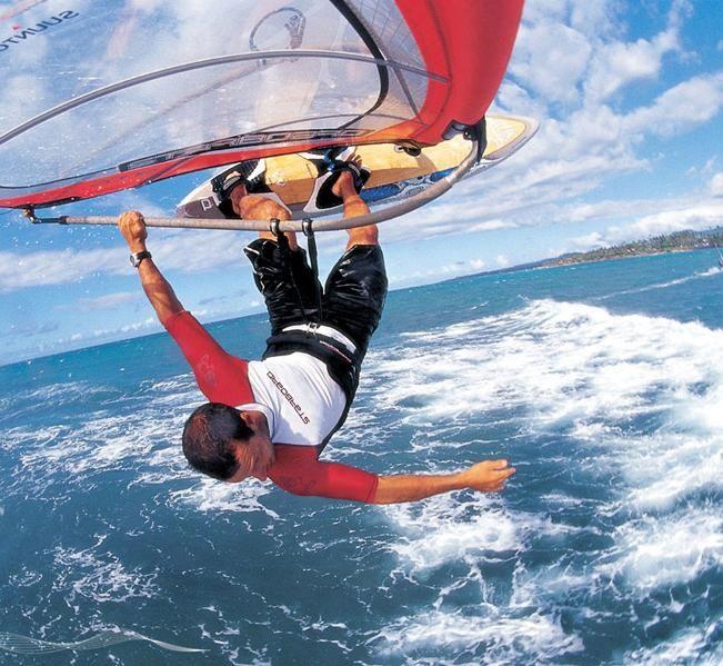 wind surfing!