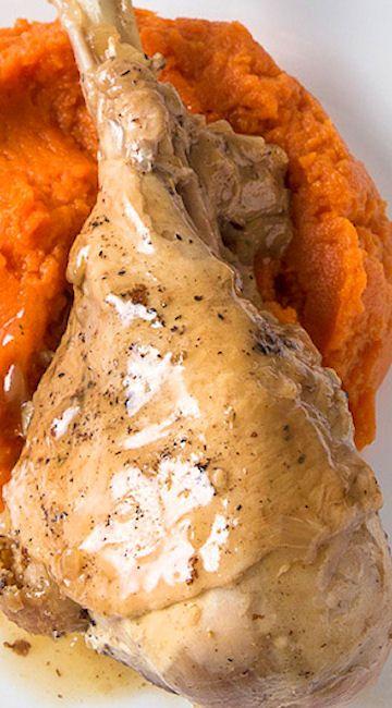 Pressure Cooker Turkey Legs And Turkey Gravy Recipe Pressure Cooker Turkey Turkey Leg