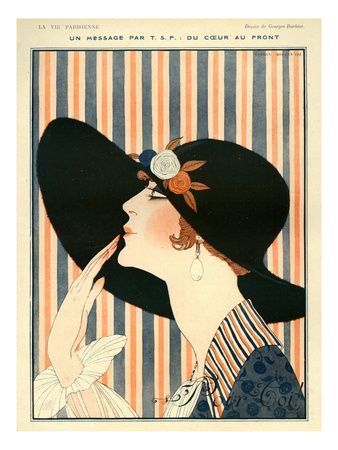 La Vie Parisienne, G Barbier, 1918, France by Georges Barbier
