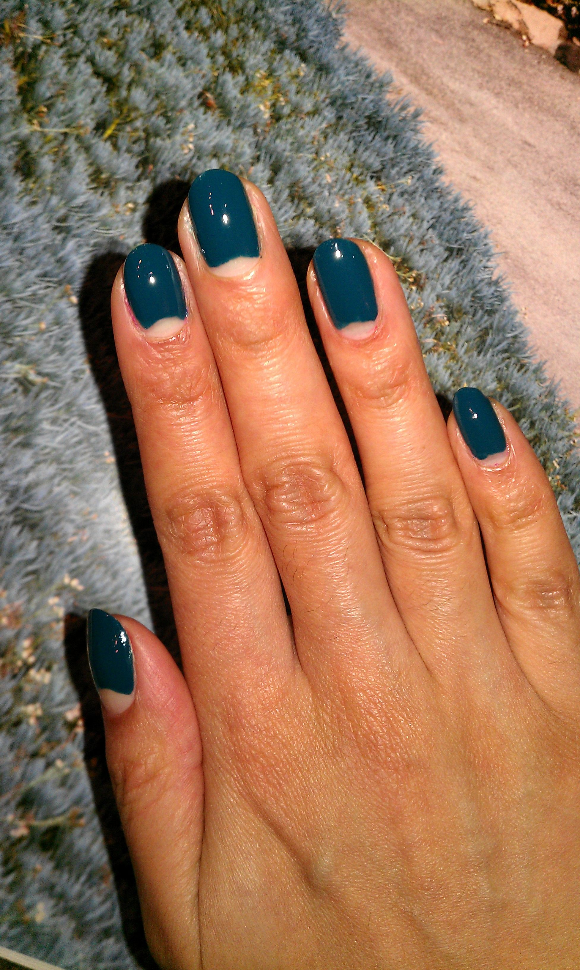 Half Moon nails in the style of Jenny Longworth. Using Revlon\'s ...