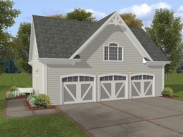 Plan 007g 0006 garage plans and garage blue prints from for A frame garage with loft