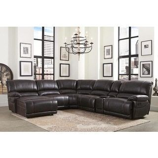 Shop For Abbyson Cooper 6 Piece Dark Brown Sectional Sofa. Get Free  Delivery At