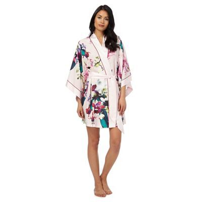 B By Ted Baker Pink Midnight Fuschia Print Dressing Gown