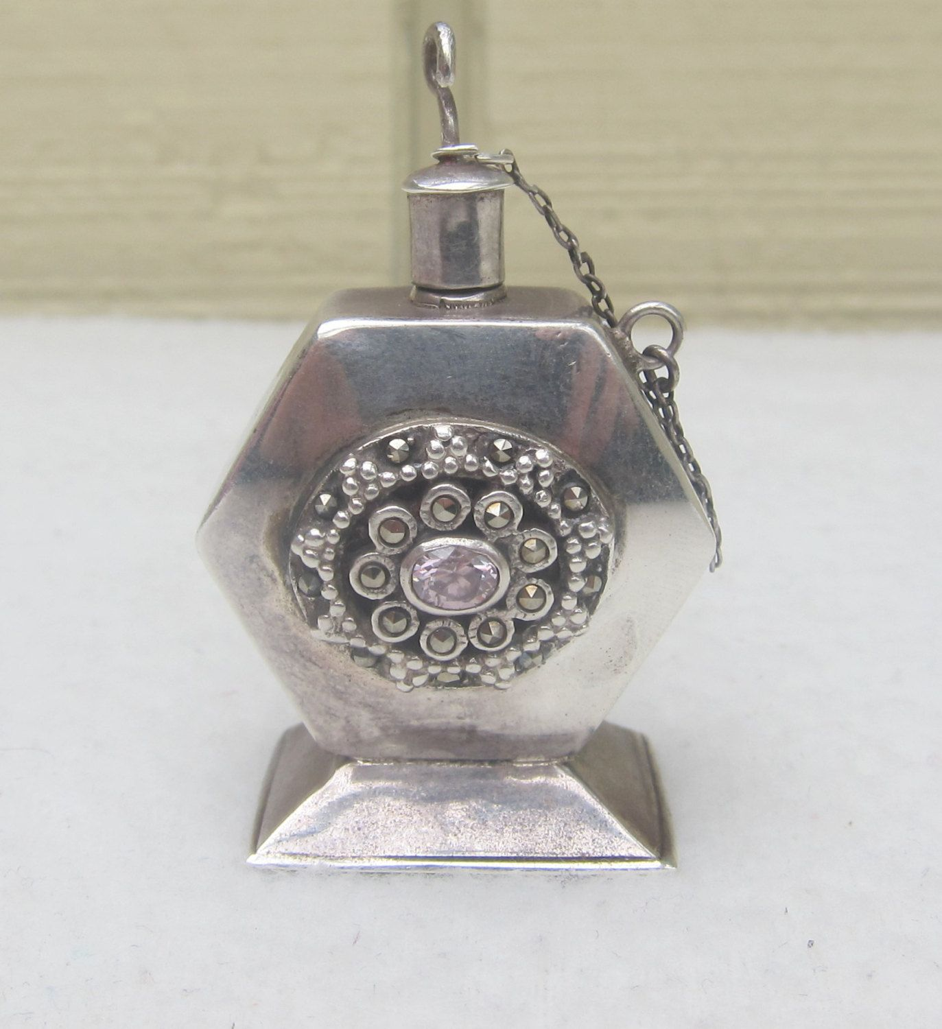 925 Sterling Silver Perfume Bottle