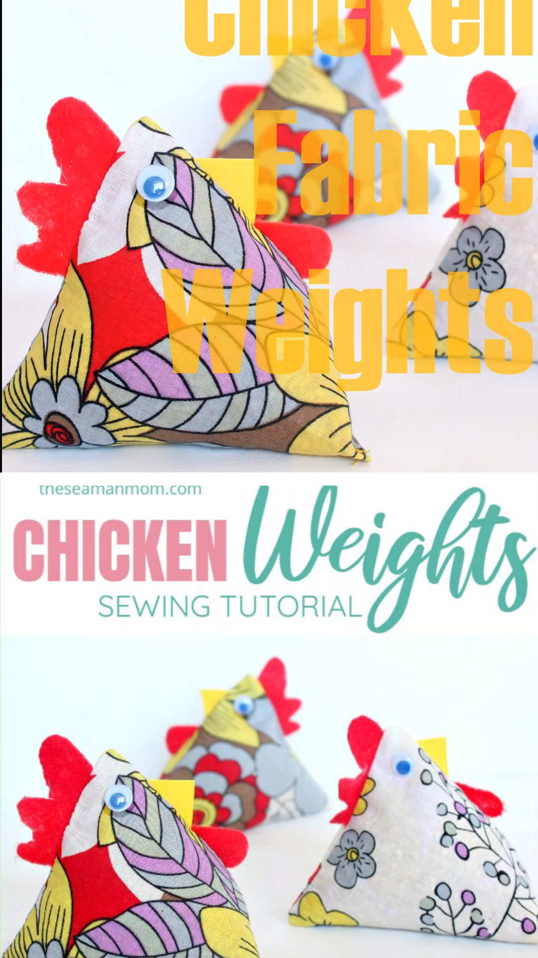 FABRIC CHICKEN WEIGHTS SEWING TUTORIAL