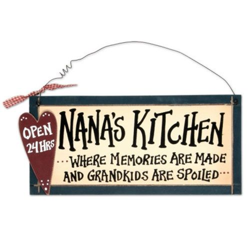 Nanas Kitchen Sign | Cook in, Campers and My love