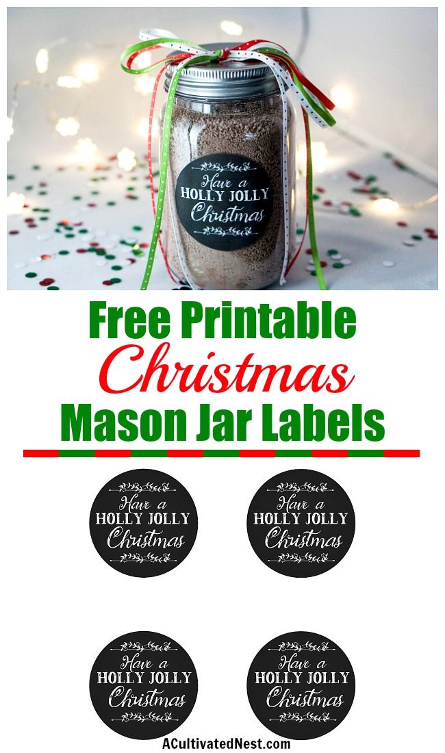 Free Printable Christmas Mason Jar Labels is part of Christmas mason jars diy, Christmas printable labels, Christmas mason jars, Christmas mason jar labels, Free christmas printables, Free printable christmas labels - Add some polish to your DIY gift in a jar with these free printable Christmas mason jar labels! These can be used on jars and containers of all kinds!