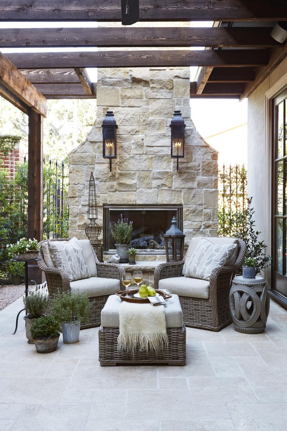 Top 5 Elegant French Country Home Architecture Ideas Freshouz Com Outdoor Fireplace Backyard Outdoor Living