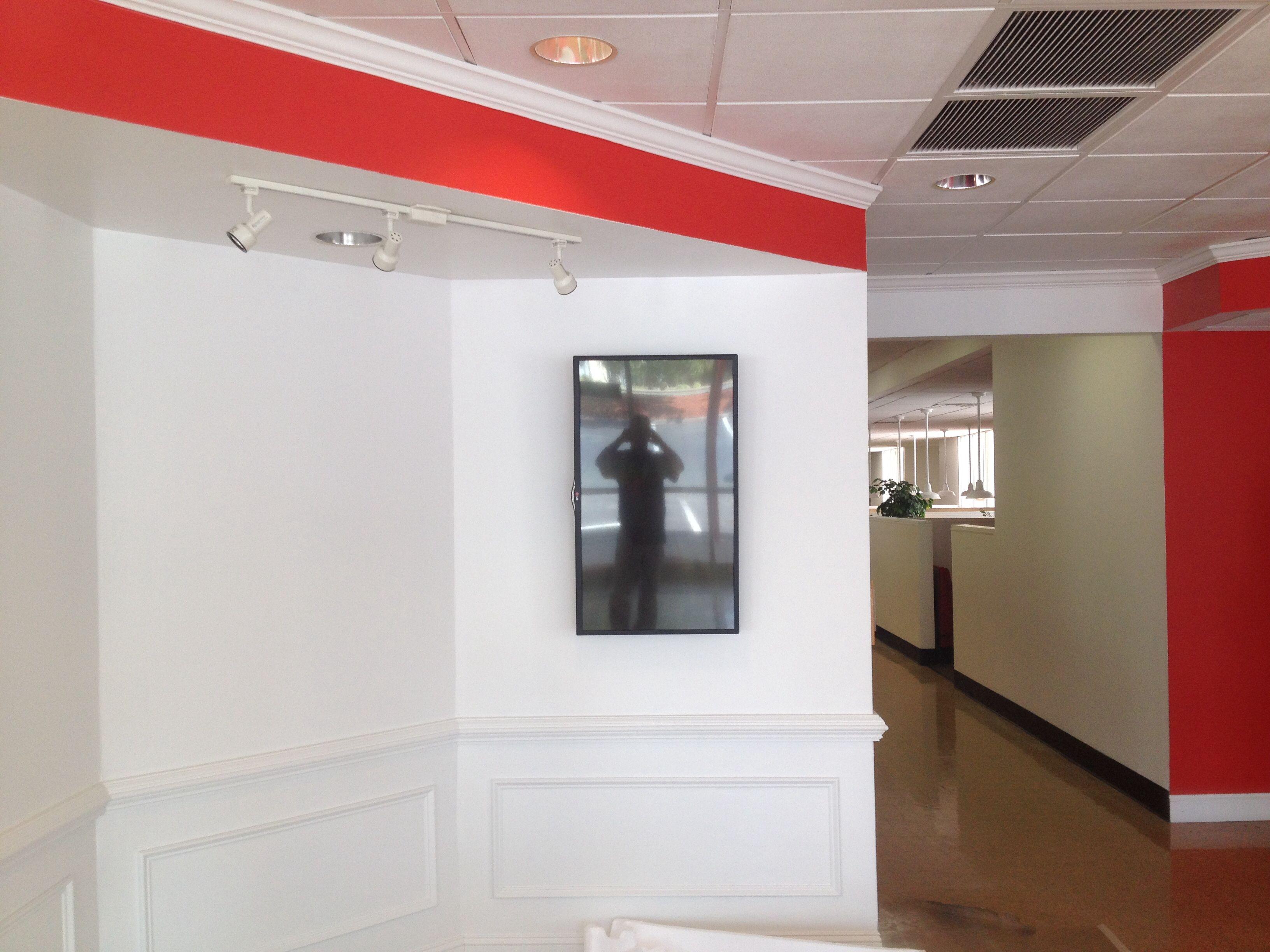 LG TV / monitor mounted sideways for restaurant menu… | Commercial