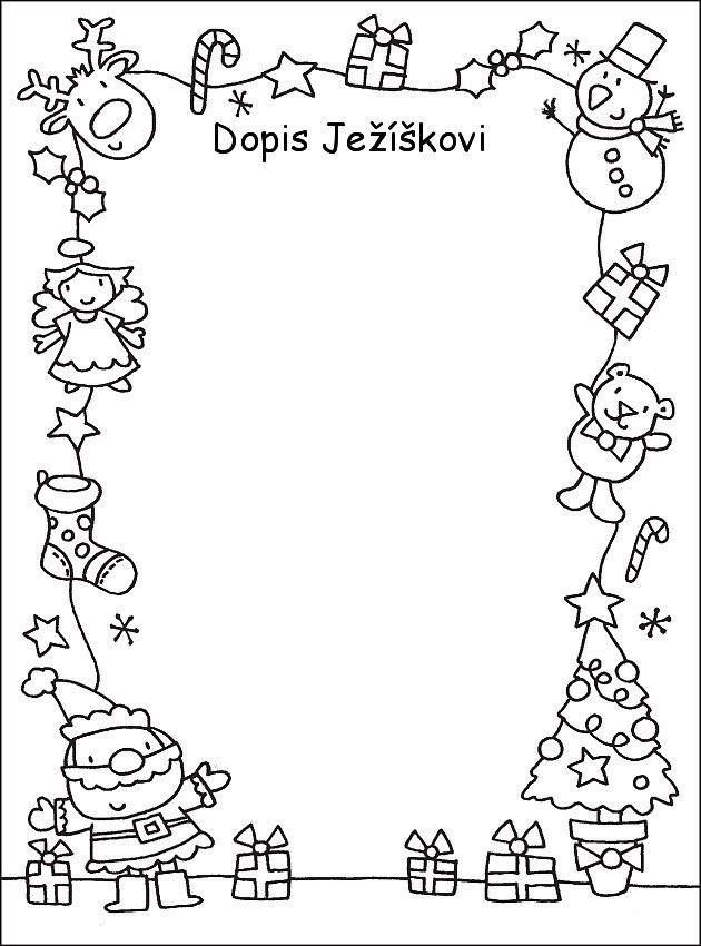 Dopis Ježíškovi Christmas gift wish list/letter for kids