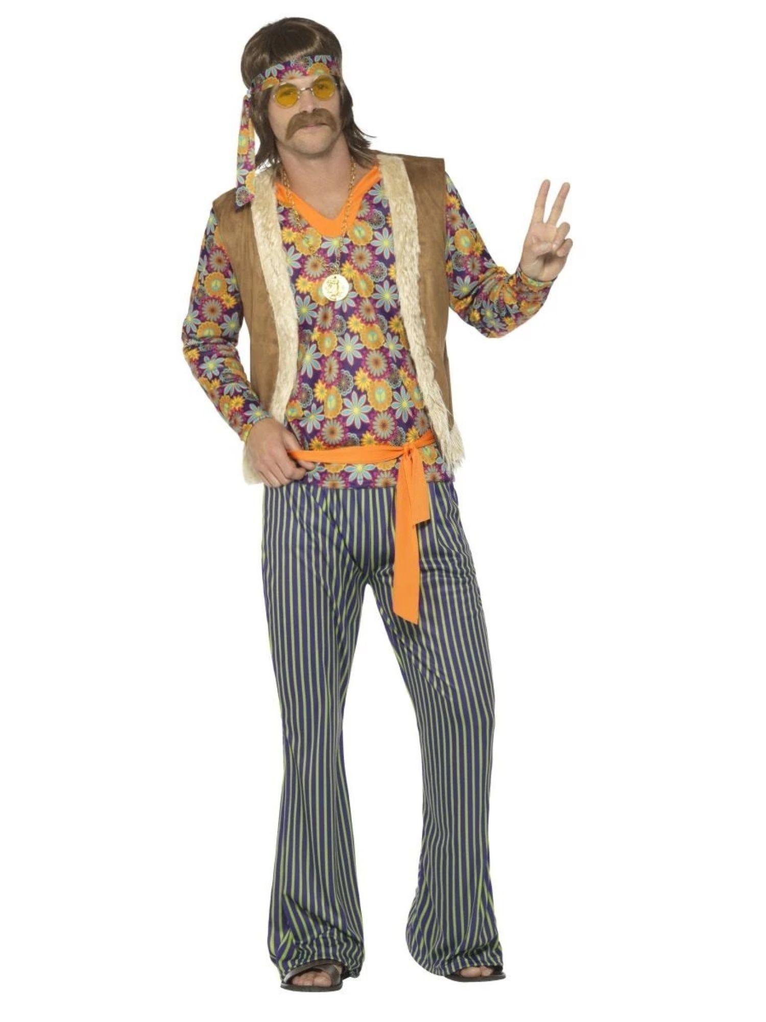 "41"" Brown and Orange 1960's Style Singer Men Adult"