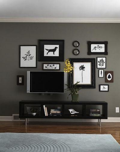 Disposer ses cadres murs tableaux pinterest salon maison et deco - Cadre salon design ...