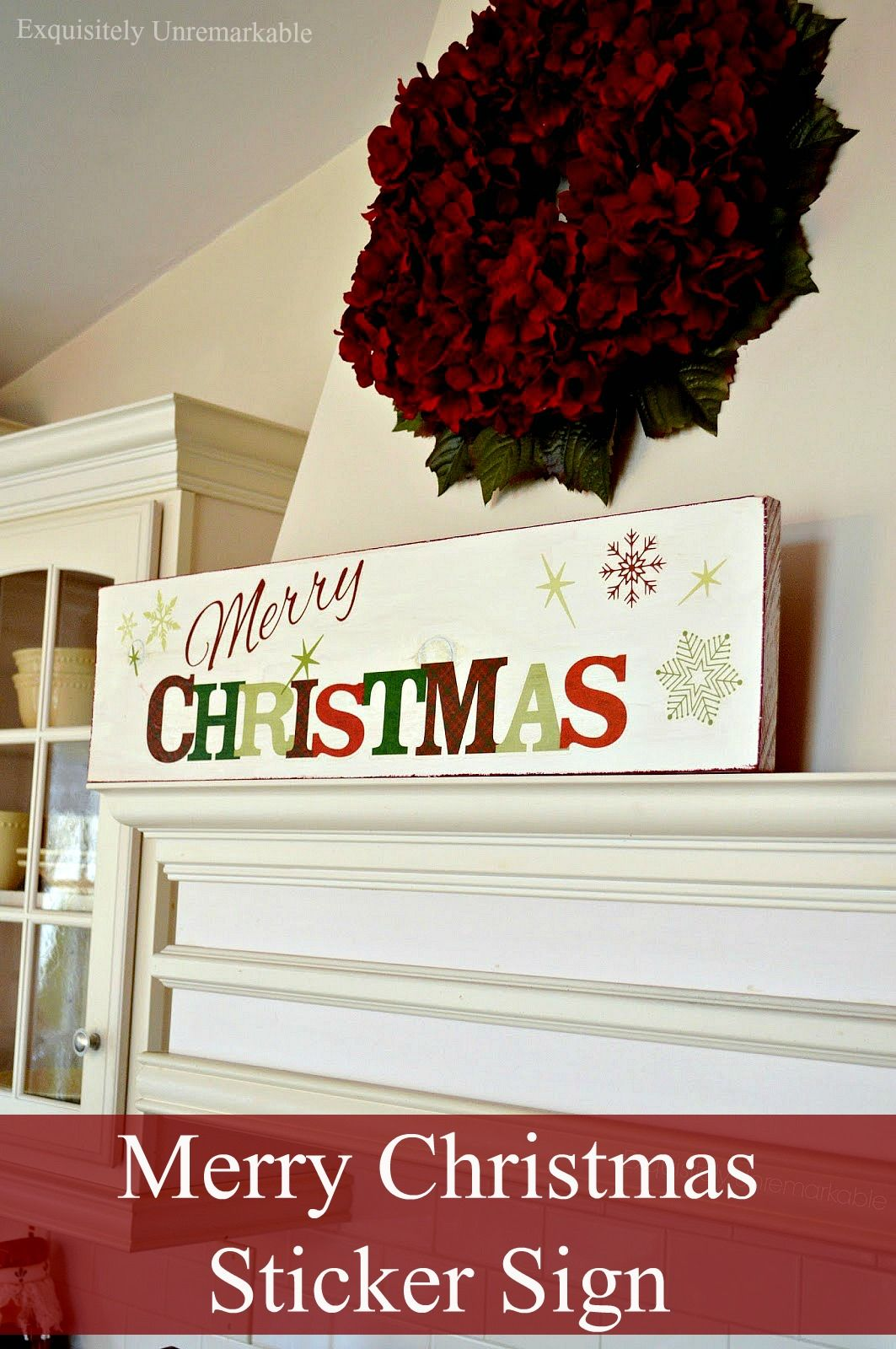 Decorating Cheat Merry Christmas Sticker Sign