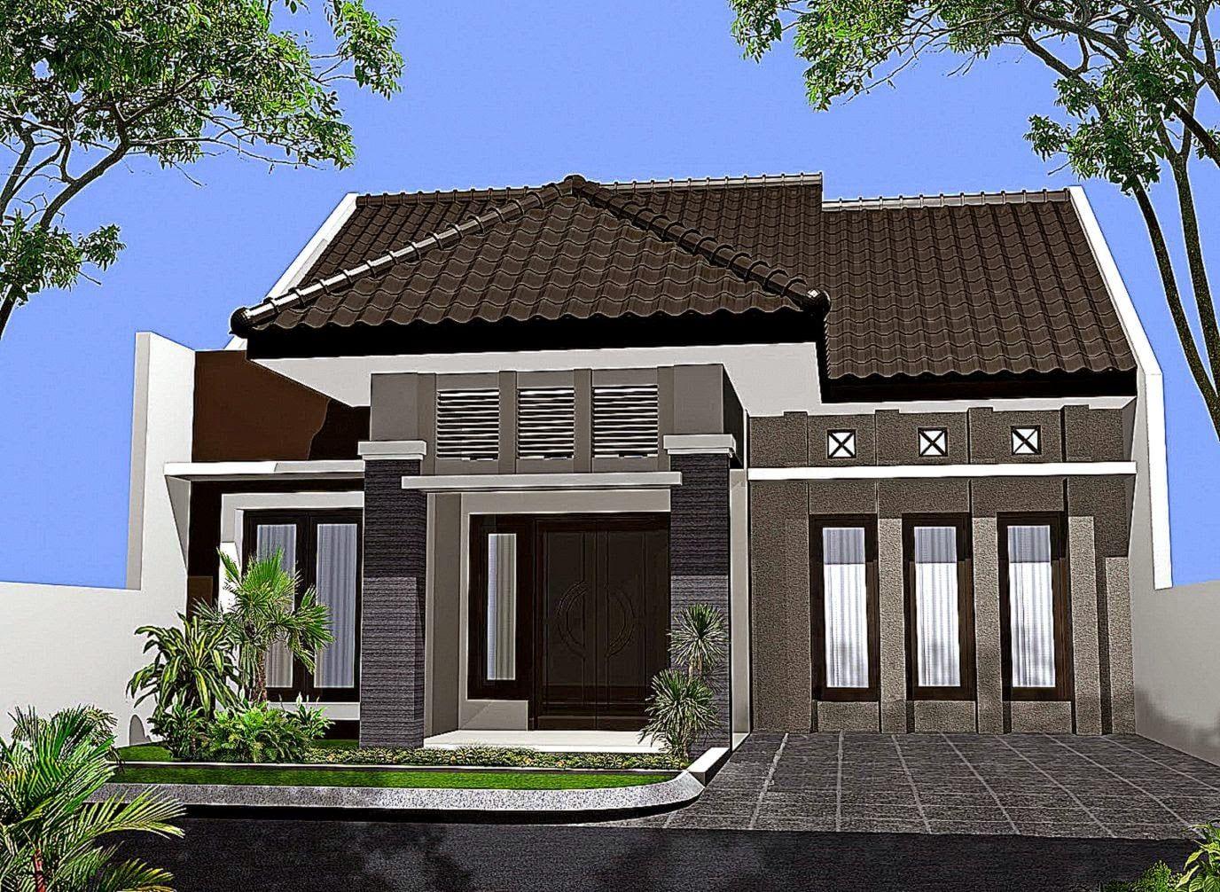 Desain Rumah Depan In 2020 Minimalist House Design One Storey