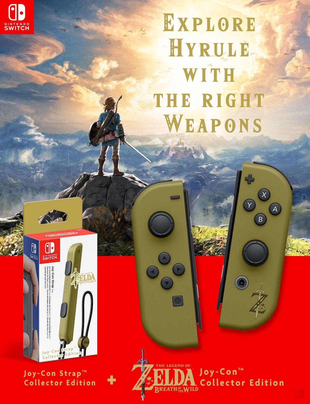 The Legend Of Zelda Breath Of The Wild Nintendo Joy Con Collector