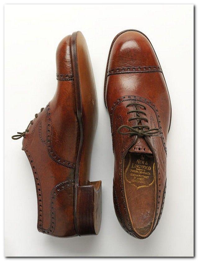 Burgundy Calf Leather Half Brogue Shoes New & Lingwood 8htWlsKX7